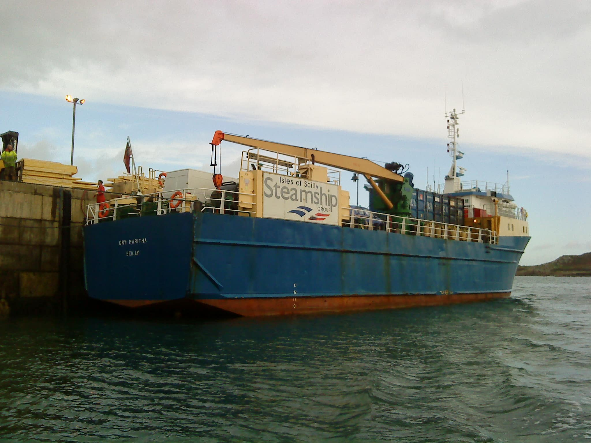 Gry Maritha unloading early in the morning