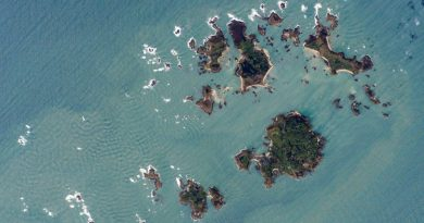 The Isles of Scilly from Space